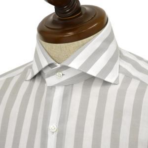 BARBA【バルバ】ドレスシャツ BRUNO I1U262532803R コットン ストライプ グレー×ホワイト cinqueclassico