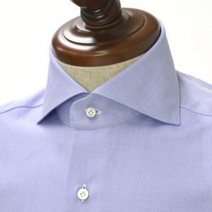 BARBA【バルバ】ドレスシャツI BRUNO RPZ1902 コットン ツイル ダークブルー cinqueclassico