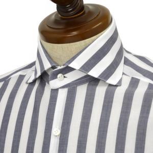 BARBA【バルバ】ドレスシャツ BRUNO I1U262532802R コットン ストライプ ネイビー×ホワイト cinqueclassico