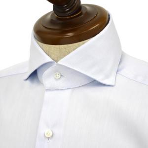 BARBA【バルバ】ドレスシャツ JOURNEY BRUNO I1U262568102U/65 フラシ コットン ツイル サックスブルー cinqueclassico