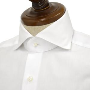 BARBA【バルバ】ドレスシャツ  JOURNEY BRUNO I1U262568101U/65 フラシ コットン ツイル ホワイト cinqueclassico