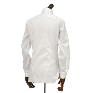 BARBA【バルバ】ドレスシャツ  JOURNEY BRUNO I1U262568101U/65 フラシ コットン ツイル ホワイト|cinqueclassico|03
