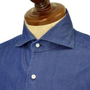 BARBA【バルバ】ドレスシャツ BRUNO 1U263PZ0998U/61 コットン ダンガリー インディゴ cinqueclassico