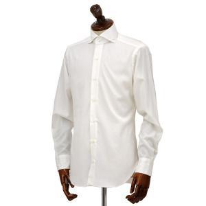 BARBA【バルバ】ドレスシャツ  BRUNO I1U262U06227U フラシ コットン ブロード ホワイト|cinqueclassico|02