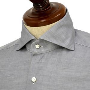 BARBA【バルバ】ドレスシャツ  BRUNO I1U262U01992U フラシ コットン ツイル グレー cinqueclassico