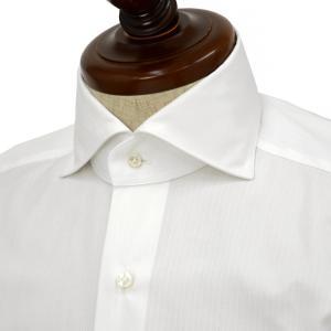 【30%OFF】【size36,37】BARBA【バルバ】ドレスシャツ  BRUNO I1U262U06077R フラシ コットン ドビーストライプ ホワイト cinqueclassico