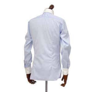 BARBA【バルバ】ドレスシャツ  BRUNO I1U262552803U フラシ コットン クレリック ツイル ブルー×ホワイト|cinqueclassico|03