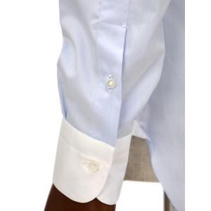 BARBA【バルバ】ドレスシャツ  BRUNO I1U262552803U フラシ コットン クレリック ツイル ブルー×ホワイト|cinqueclassico|05