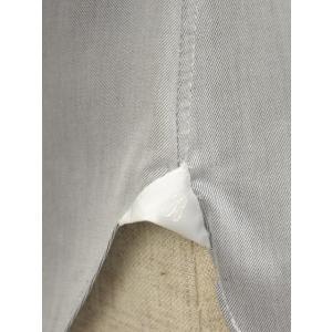 BARBA【バルバ】ドレスシャツ  BRUNO I1U262552806U フラシ コットン クレリック ツイル グレー×ホワイト|cinqueclassico|06