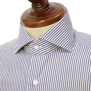 BARBA【バルバ】ドレスシャツ  BRUNO I1U262U02124U フラシ コットン ロンドンストライプ ネイビー×ホワイト|cinqueclassico