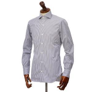 BARBA【バルバ】ドレスシャツ  BRUNO I1U262U02124U フラシ コットン ロンドンストライプ ネイビー×ホワイト|cinqueclassico|02