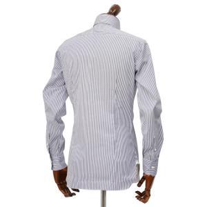 BARBA【バルバ】ドレスシャツ  BRUNO I1U262U02124U フラシ コットン ロンドンストライプ ネイビー×ホワイト|cinqueclassico|03
