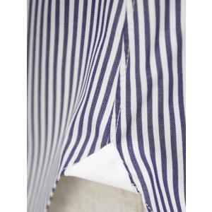BARBA【バルバ】ドレスシャツ  BRUNO I1U262U02124U フラシ コットン ロンドンストライプ ネイビー×ホワイト|cinqueclassico|05
