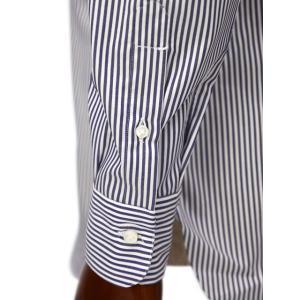 BARBA【バルバ】ドレスシャツ  BRUNO I1U262U02124U フラシ コットン ロンドンストライプ ネイビー×ホワイト|cinqueclassico|06
