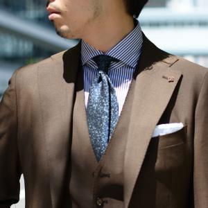 BARBA【バルバ】ドレスシャツ  BRUNO I1U262U02124U フラシ コットン ロンドンストライプ ネイビー×ホワイト|cinqueclassico|09