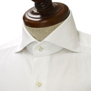 BARBA【バルバ】ドレスシャツ  BRUNO I1U262PZ1900U フラシ コットン ツイル ホワイト cinqueclassico