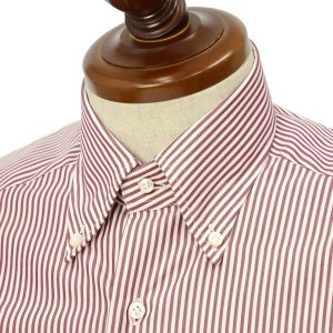 BARBA【バルバ】ドレスシャツ  BRK I1U242PZ0149U フラシ コットン ロンドンストライプ レッド×ホワイト|cinqueclassico