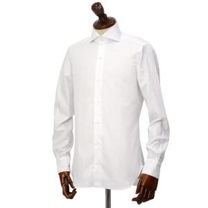 BARBA【バルバ】ドレスシャツ  BRUNO I1U262U07081U フラシ コットン オックスフォード ホワイト cinqueclassico 02