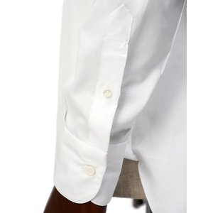 BARBA【バルバ】ドレスシャツ  BRUNO I1U262U07081U フラシ コットン オックスフォード ホワイト cinqueclassico 05