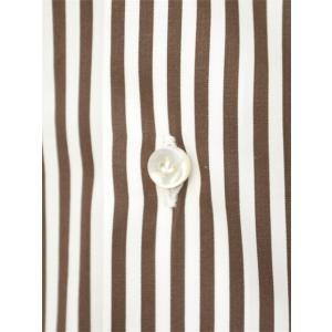 BARBA【バルバ】ドレスシャツ  BRUNO I1U262596113U フラシ コットン ロンドンストライプ ブラウン×ホワイト|cinqueclassico|04