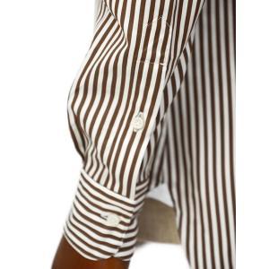 BARBA【バルバ】ドレスシャツ  BRUNO I1U262596113U フラシ コットン ロンドンストライプ ブラウン×ホワイト|cinqueclassico|05