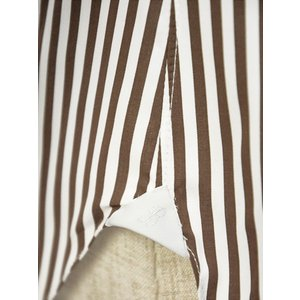 BARBA【バルバ】ドレスシャツ  BRUNO I1U262596113U フラシ コットン ロンドンストライプ ブラウン×ホワイト|cinqueclassico|06