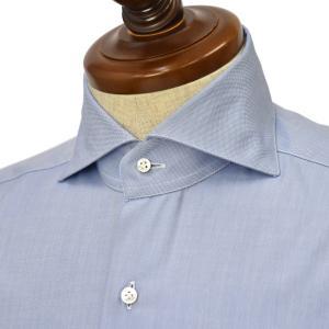 BARBA【バルバ】ドレスシャツ  BRUNO I1U262620304U フラシ コットン ピンポイントオックスフォード ブルー|cinqueclassico