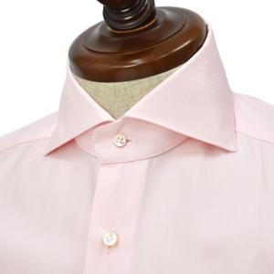 BARBA【バルバ】ドレスシャツ  BRUNO I1U262620305U フラシ コットン ピンポイントオックスフォード ピンク|cinqueclassico