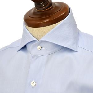 BARBA【バルバ】ドレスシャツ  BRUNO I1U262620303U フラシ コットン ピンポイントオックスフォード サックス|cinqueclassico