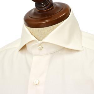 BARBA【バルバ】ドレスシャツ  BRUNO I1U262620302U フラシ コットン ピンポイントオックスフォード イエロー|cinqueclassico