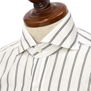 BARBA【バルバ】ドレスシャツ  BRUNO I1U262U07253R フラシ コットン ダブルストライプ ブラック|cinqueclassico
