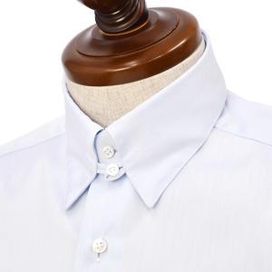 BARBA【バルバ】ドレスシャツ  TAB I1U682630502U フラシ コットン ツイル サックス|cinqueclassico