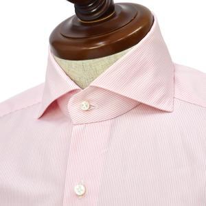 BARBA【バルバ】ドレスシャツ  BRUNO I1U262621607U フラシ コットン キャンディーストライプ ピンク|cinqueclassico