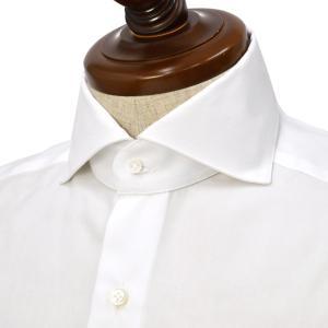 BARBA【バルバ】ドレスシャツ  BRUNO I1U262620301U フラシ コットン ピンポイントオックスフォード ホワイト|cinqueclassico