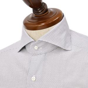 BARBA【バルバ】ドレスシャツ  BRUNO I1U262U07557 フラシ コットン マイクロチェック  ブラック×ホワイト|cinqueclassico