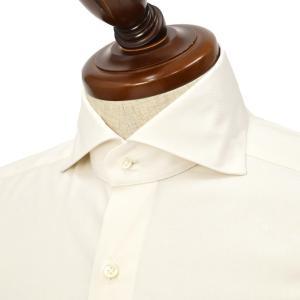 BARBA【バルバ】ドレスシャツ  BRUNO I1U262U07413 フラシ コットン オックスフォード オフホワイト|cinqueclassico