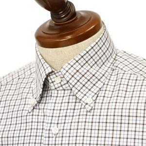 BARBA【バルバ】ドレスシャツ  BRK I1U242U07541X  フラシ コットン タッタソールチェック ブラウン×ブルー|cinqueclassico