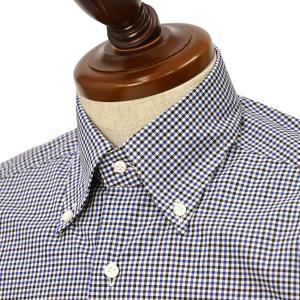BARBA【バルバ】ドレスシャツ  BRK I1U242U07551W フラシ コットン ギンガムチェック ブルー×ブラック|cinqueclassico