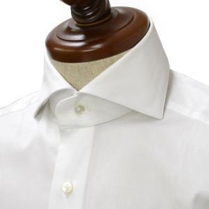 BARBA【バルバ】ドレスシャツ  BRUNO I1U262PZ5005UN フラシ コットン ツイル ホワイト|cinqueclassico