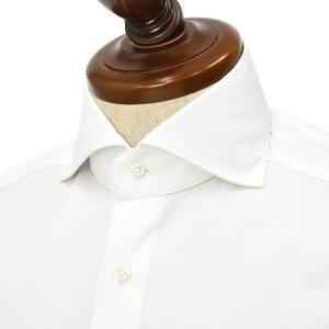 BARBA【バルバ】ドレスシャツ  BRUNO I1U26P01PZ5017U フラシ コットン 織柄 ストライプ ホワイト cinqueclassico