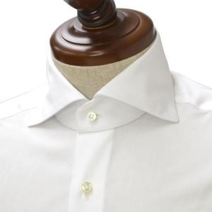 BARBA【バルバ】ドレスシャツ I BRUNO I1U262PZ1000U コットン ダブルカフス ブロード ホワイト cinqueclassico