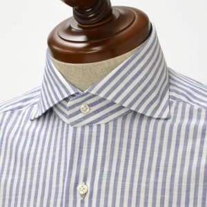 BARBA【バルバ】ドレスシャツ I BRUNO I1U262466202U コットン ロンドンストライプ ブルー cinqueclassico
