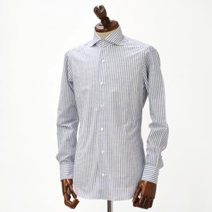 BARBA【バルバ】ドレスシャツ I BRUNO I1U262466202U コットン ロンドンストライプ ブルー cinqueclassico 02