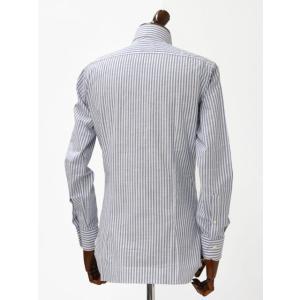 BARBA【バルバ】ドレスシャツ I BRUNO I1U262466202U コットン ロンドンストライプ ブルー cinqueclassico 03
