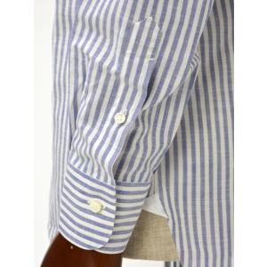 BARBA【バルバ】ドレスシャツ I BRUNO I1U262466202U コットン ロンドンストライプ ブルー cinqueclassico 06