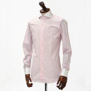 BARBA【バルバ】ドレスシャツ I BRUNO I1U262310821 コットン クレリック ストライプ ピンク×ホワイト cinqueclassico 02
