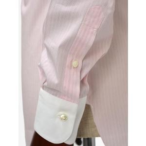 BARBA【バルバ】ドレスシャツ I BRUNO I1U262310821 コットン クレリック ストライプ ピンク×ホワイト cinqueclassico 05