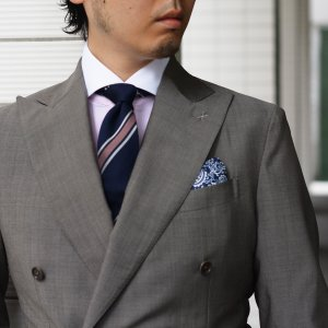 BARBA【バルバ】ドレスシャツ I BRUNO I1U262310821 コットン クレリック ストライプ ピンク×ホワイト cinqueclassico 09