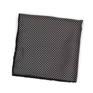 FRANCOBASSI【フランコバッシ】チーフ U21E 8000/3 シルク ドット ブラック×ホワイト cinqueclassico