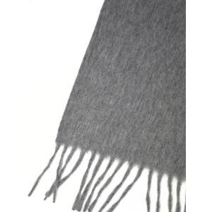 BEGG&CO【ベグ アンド コー】マフラー Arran Plain FLANNEL GREY カシミア グレー|cinqueclassico|03